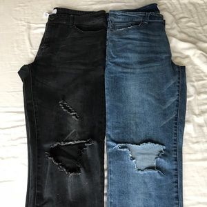 *2-PACK* Forever 21 Distressed Slim Stretch Jeans